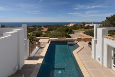 Swimming pool. Villa in Caló d'en Real Gated Community, by Kelosa   Ibiza Selected Properties Ibiza Formentera, Tulum, Interior Architecture, Swimming Pools, Landscape, Luxury, Outdoor Decor, Interiors, Home