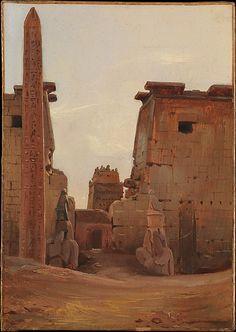 The Gate to the Temple of Luxor Antoine-Xavier-Gabriel de Gazeau, comte de La Bouëre (French, Jallais 1801–1881 Grenoble) Date: 1836