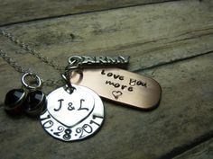 I just ordered this necklace, and im so excited to get it!!! :) PersonalizedHand Stamped jewelrymilitary by mybeadedbutterfly
