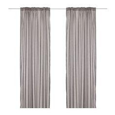 IKEA - VIVAN, Gordijnen, 1 paar, , Het gordijn kan direct door de blinde lussen aan een gordijnroede worden gehangen, maar je kan ook ringen en haken gebruiken.