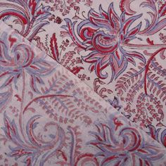 10 Yard Indian Floral Batik Print Handmade by handprintedshop