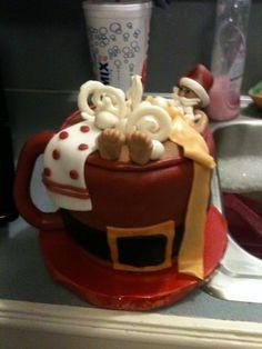 Santa relaxing cake