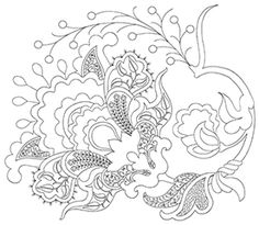 To illustrate some of the many variations possible from a single design, we provide at left the cartoon for the TALLIAFERRO Royal Persian Blossom design.