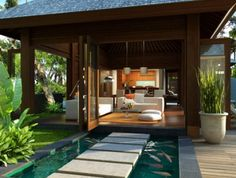 bali style home house plans * bali style home ; bali style home living rooms ; bali style home house plans ; bali style home decor ; bali style home exterior ; bali style home bedrooms ; bali style home villas ; bali style home interiors Bali Architecture, Tropical Architecture, Villa Design, Bali Fashion, Home Fashion, Tropical Houses, Modern Tropical, Style At Home, Bali Stil