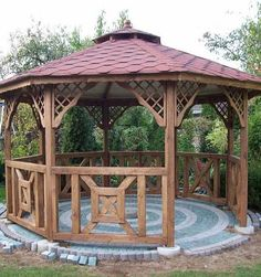 Pergola Ideas For Patio Gazebo On Deck, Hot Tub Gazebo, Backyard Gazebo, Garden Gazebo, Pergola Patio, Pergola Plans, Pergola Ideas, Fairy Doors On Trees, Modern Gazebo