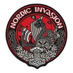 M-Tac patch - morale patches viking - tactical hat - hook fasteners Nordic Invasion