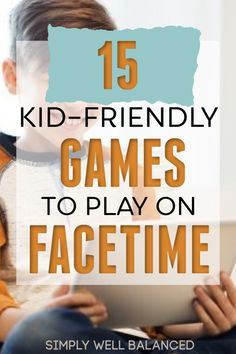 The best games for kids to play with friends and family on Zoom, Facetime or Skype. These games are a great way for kids to connect with their friends during school closures or breaks. Virtual Games For Kids, Easy Games For Kids, Games To Play With Kids, Fun Activities To Do, Kids Fun, Online Games For Toddlers, Outside Games For Kids, School Games For Kids, Family Game Night