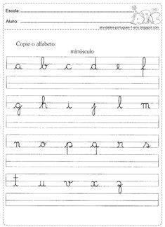 Atividades com letras cursivas                                                                                                                                                     Mais