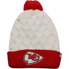 47 Brand Kansas City Chiefs Ladies Matterhorn Cuffed Knit Hat -  Natural Red Kansas aa97cb33bbf7