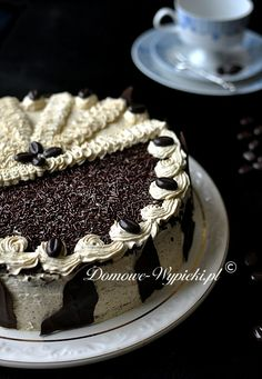 Poppy seed cake with coffee mass Sweet Recipes, Cake Recipes, Poppy Seed Cake, Food Cakes, Tiramisu, Recipies, Nail Designs, Gluten Free, Polish