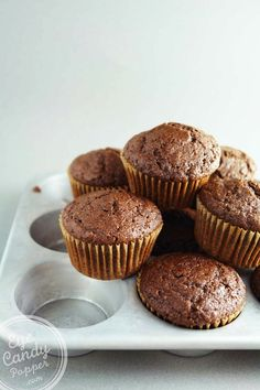 Wholegrain double chocolate olive oil muffins made with spelt | Dairy-Free | No Durum Wheat via @eyecandypopper