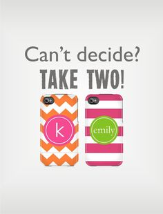 TWO Personalized iPhone 5 Cases 4 / 4S or 3G or Samsung - Mix and Match Designs - original design by a drop of golden sun