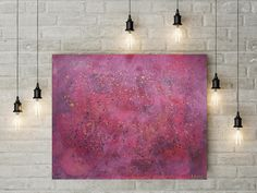 Large Wall Art for Living Room Decoration Pink Black Original Abstract Painting Contemporary Art Acrylic Painting on Paper by DeniseArtStudio on Etsy Modern Canvas Art, Canvas Artwork, Canvas Art Prints, Colorful Wall Art, Large Wall Art, Pink Abstract, Abstract Art, Acrylic Painting On Paper, Contemporary Paintings
