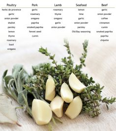 Perfect spice & herb pairings!