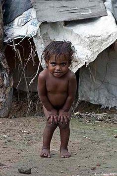 aww..Child in a Slum near Red Fort, Old Delhi, India - by Giovanni Mari, Italian