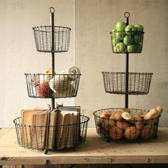 Find it at the Foundary - Wire Basket Towers - Raw