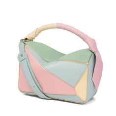 41f9ab3d0e7a #loewe #bags #inlove #itbag #icon #inversion #color #pastels #pink #mint  #blue #yellow #puzzle