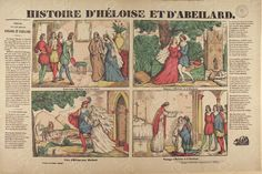 """Bibliothèque de Valenciennes, """"Histoire d'Héloise et d'Abeilard"""", estampe, 1842"""