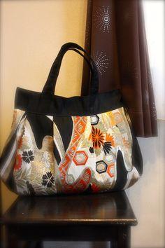 OBi / Kimono / Bag / BK523 Flowers And Kikko by RummyHandmade, $65.00