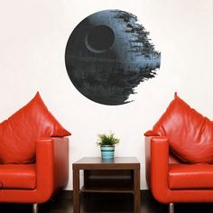 Witkey View Series Stereoscopic Removable Kids Room Nursey Room Living Room DIY Mural Home Decor Wallpaper Wall Stickers Décor(Star Wars Death Star) Sticker Art, Wall Stickers Wallpaper, Removable Wall Stickers, Wall Stickers Home Decor, Wall Stickers Murals, Wall Decals, 3d Wallpaper, Star Wars Death Star, Film Star Wars