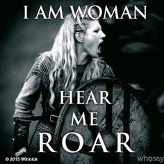 Lagertha (Katheryn Winnick) on Vikings war cry Katheryn Winnick, History Channel, Vikings Lagertha, Ragnar Lothbrok, Lagertha Hair, Artiste Martial, Viking Quotes, Viking Sayings, Vikings Tv Show