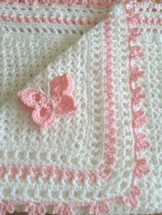 Crochet baby blanket or moses basket bedding. Shawl. by CrochetBox, £22.99