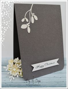 Daizy-Mae's-Crafty blog: Grey Mistletoe Xmas card