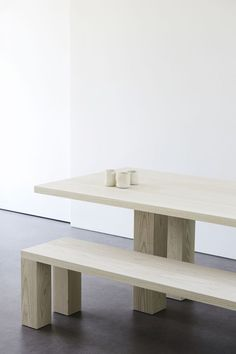 "leibal: ""Pure Minimalist is a minimalist furniture collection created by New York-based designer Ameé Allsop. Inspired by the minimalist art movement of the late the collection features six unique pieces for the considered home. Having spent. Furniture Plans, Bedroom Furniture, Furniture Sets, Home Furniture, Furniture Design, Plywood Furniture, Furniture Projects, Furniture Buyers, Business Furniture"