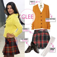 don't like glee, but love this outfit. :)