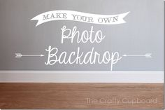 Make Your Own Photo Backdrop - 2 Boards 8 Possibilities by The Crafty Cupboard
