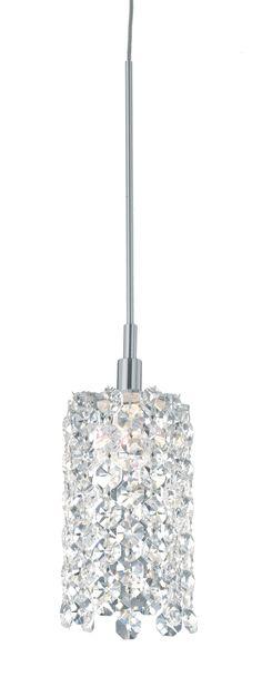 Schonbek Lighting Re2524 Refrax 5 Light Pendant Shown In Stainless Steel Finish Crystal Pinterest