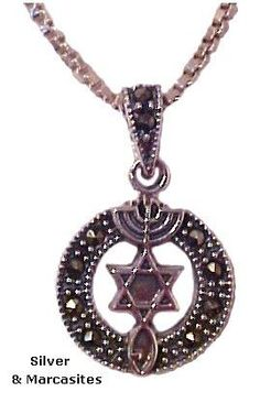 Messianic Necklace with Marcasites