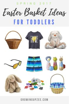Stuck on what to add to your toddler's Easter basket? Check out this post! #easter #momlife #toddlers via @growingupzee