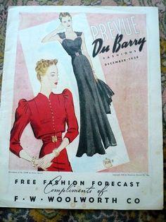 Prevue Du Barry Fashions, December 1938 featuring DuBarry 2136B