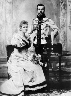 Nicholas II and Alexandra Feodorovna engagement official photography. 1894