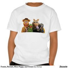 Fozzie, Kermit, Srta. Piggy, y Gonzo Poleras. Producto disponible en tienda Zazzle. Vestuario, moda. Product available in Zazzle store. Fashion wardrobe. Regalos, Gifts. #camiseta #tshirt