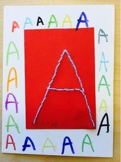 Kindergarten Teachers, Kindergarten Activities, Preschool, Sewing School, Phonological Awareness, Teaching Language Arts, Learning The Alphabet, Early Childhood Education, Crafts For Kids