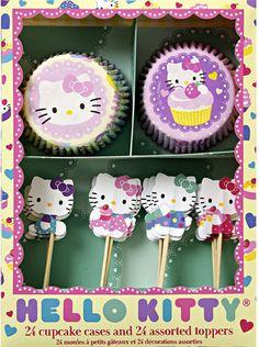 Hello Kitty Cupcake Kit by HeyYoYo on Etsy, $13.00