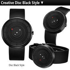 608ff19d517 Pánské černé hodinky s originálním ciferníkem bez ručiček + POŠTOVNÉ ZDARMA  Na tento produkt se vztahuje