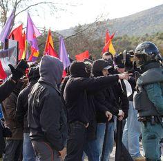 Republican proestors, Valle de los Caídos, outside Madrid