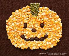 Seed Mosaic Pumpkin for Halloween! Seed Mosaic Pumpkin for Halloween! Seed Crafts For Kids, Pumpkin Crafts Kids, Harvest Crafts, Fall Arts And Crafts, Pumpkin Art, Crafts For Seniors, Fun Crafts, Seed Art For Kids, Craft Kids