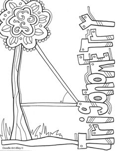 Subject Cover Pages Coloring Pages - Classroom Doodles School Binder Covers, School Book Covers, Dance Coloring Pages, Colouring Pages, Binder Cover Templates, Welcome To School, Basic Geometry, Teachers Aide, Notebook Covers
