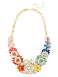 Rainbow Starlite Bib Necklace   BaubleBar