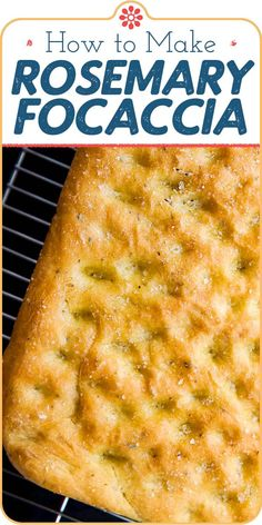 Homemade Rosemary Focaccia is simply the BEST! It's easy to make, but be sure to give yourself the afternoon. You'll be rewarded with a rich, rosemary-scented bread that feeds a crowd. Serve as an appetizer or as a side with soup, roasts, or braises. #focaccia #italianfood #italianrecipes #breadrecipes #simplyrecipes Croissants, Bread Recipes, Cooking Recipes, Scd Recipes, Cooking Tips, Rosemary Focaccia, Simply Recipes, Feeding A Crowd, Artisan Bread
