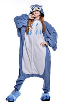 NEWCOSPLAY Sleepsuit Pajamas Homewear OnePiece Cosplay Costume Lounge Wear Mfor Height 6367 Blue Owl >>> You can find out more details at the link of the image.