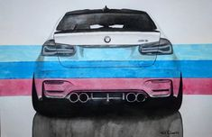 Art Drawings Sketches, Sketch Design, Bmw M3, Graphite, Charcoal, Wheels, Ink, Cars, Vehicles
