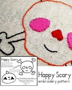 Happy Scary Embroidery PDF Pattern
