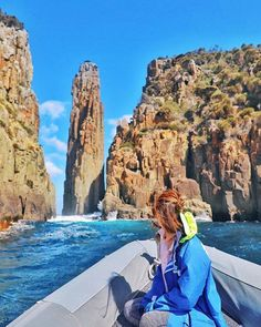 Out on the water at Cape Hauy on the Tasman Peninsula with he Candlestick in the background. Image sent in by Connie https://instagram.com/p/BQ-NS8QlVf8/