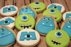 Monsters Inc Cookies Cookies For Kids, Fun Cookies, Cupcake Cookies, Sugar Cookies, Cupcakes, Monster Inc Birthday, Monster Inc Party, Monsters Inc Cookies, Disney Birthday