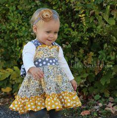 "The XOXO Dress, a PDF sewing pattern by Mandy K Designs Size 12m to 14, plus 18"" Doll"